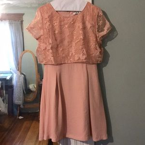 LC Lauren Conrad Dresses - Pink and Gold Lauren Conrad A-Line Dress
